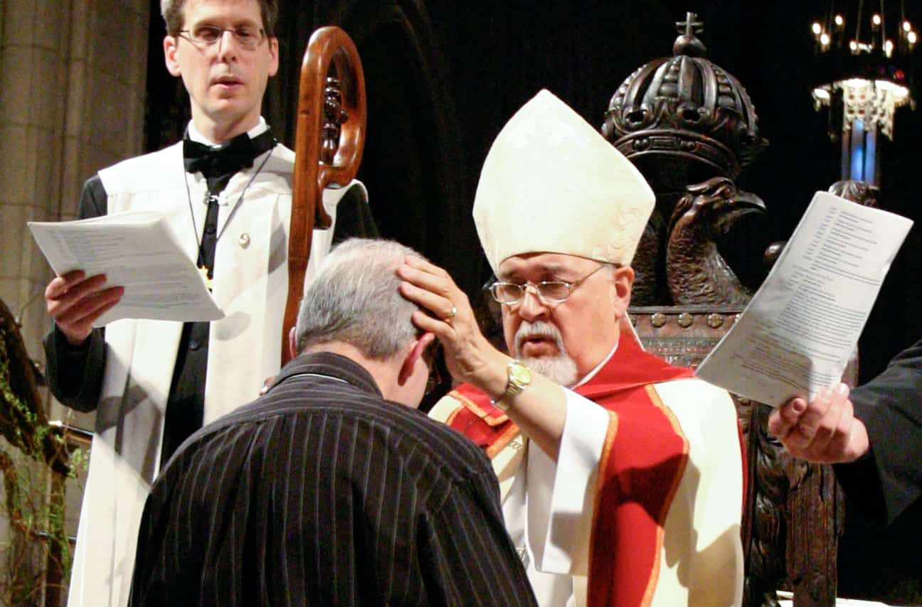Photo: Person being confirmed