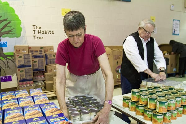 Photo: Food for Families volunteers at Marion Sterling