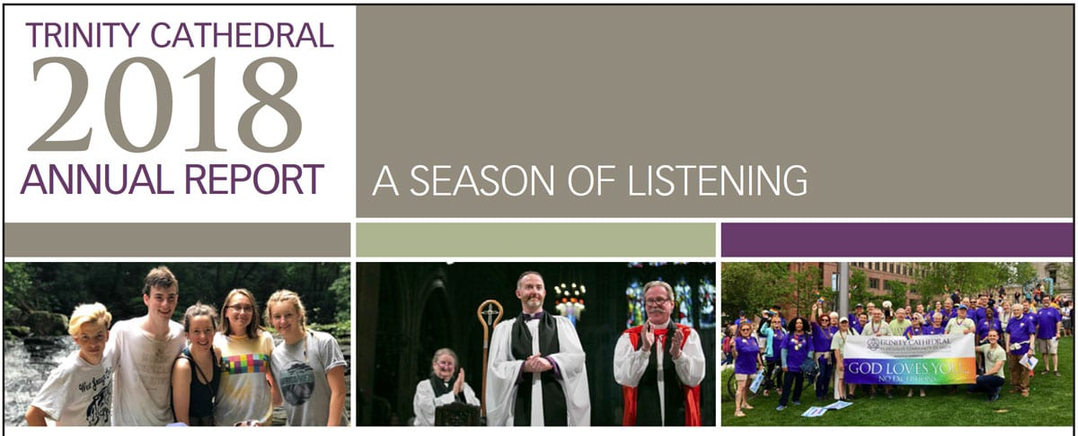 2018 Trinity Cathedral Annual Report Snippet