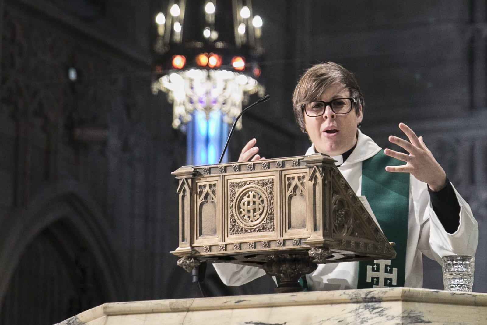 The Rev. Adrienne Koch preaching